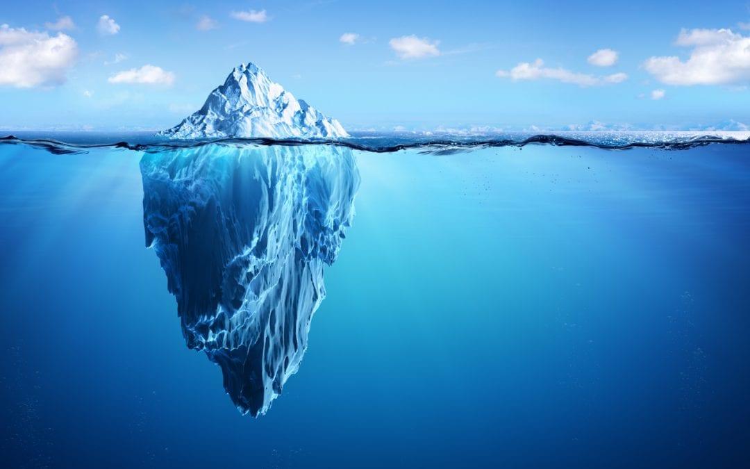 Eisberg als Verbildlichung Eisbergmodell